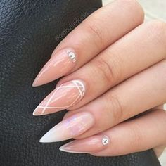 simple classy pointy nail designs - Buscar con Google