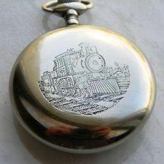 """Museu Ferroviário Virtual - Fundo de um antigo e tradicional relógio de bolso """"de ferrovia"""""""