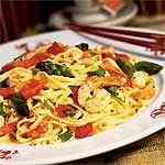 Asparagus and Shrimp Stir-fry with Noodles Recipe | MyRecipes.com