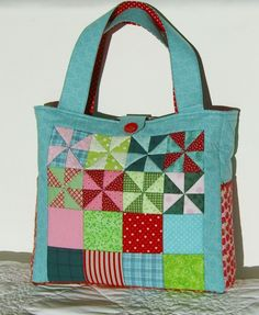 Pinwheel Tote Bag Front