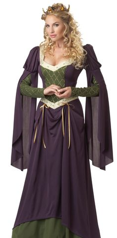 a lovely purple gothic medieval costume gown, $39.99    #MedievalDress #RenaissanceDress #HalloweenCostume