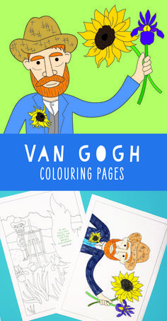 Vincent Van Gogh coloring pages for kids. Some pages also include his famous quo… Vincent Van Gogh coloring pages for kids. Some pages also include his famous quotes. Great for teaching kids art history. Van Gogh For Kids, Art For Kids, Vincent Van Gogh, Art History Projects For Kids, Art Classroom Management, Kindergarten Art Projects, Art Worksheets, Art Van, Art Lessons Elementary