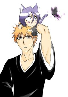 Ichigo x Rukia. I kind wanna have my very own hell moth(butterfly?) thing that i could summon