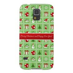 New Year pattern. Color Pictures. 2018. Galaxy S5 Case - Xmas ChristmasEve Christmas Eve Christmas merry xmas family kids gifts holidays Santa