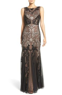 Aidan Mattox Embellished Mesh Gown available at #Nordstrom