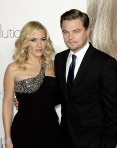 Leonardo DiCaprio and Kate Winslet at the Los Angeles premiere of Revolutionary Road