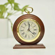 ECVISION Silent Vintage Handmade Wood Alarm Clock Bedside Wooden Table Clock Decorative Desk Alarm Clock with Nightlight And Snooze Deep Woodgrain *** Check this awesome product by going to the link at the image.