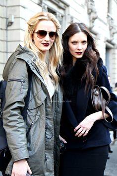 modelsjam:   Kati Nescher and Daria Strokous, Milano, February 2012