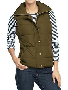 "Women's Frost Free Vests in ""Salamander"" (aka green) 