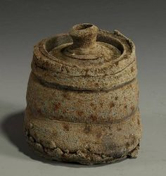 Daniel Murphy, Lidded Canister, 2012  wood fired iron rich clay, 6 x 5 1/2 x 5 1/2 in. (15.2 x 14 x 14 cm)