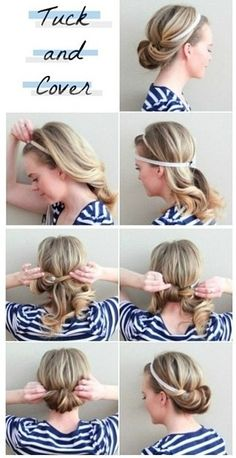 Chic headband hairstyle
