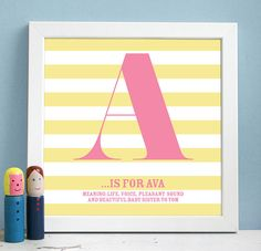 personalised framed name definition print by modo creative | notonthehighstreet.com