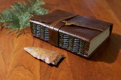 Handmade Leather Travel Journal Sketchbook by TheRootlessSpruce, $50.00