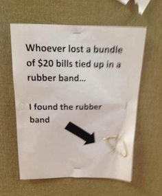 Funny lost and found sign - http://jokideo.com/funny-lost-and-found-sign/