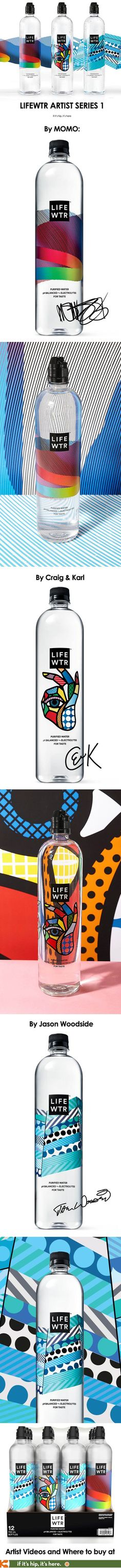 LIFEWTR introduces the first Artist series. Three specially designed bottles by MOMO, Craig & Karl and Jason Woodside: