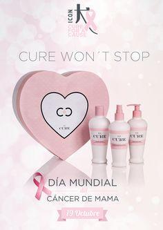Hoy, 19 de Octubre, es el Día Mundial del Cáncer de Mama. #Icon y Tutemimas.com se unen a esta causa y a esta dura lucha con #CureByChiara #ICONCureWontStop #luchemos