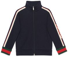 Children's sweatshirt with Gucci jacquard trim