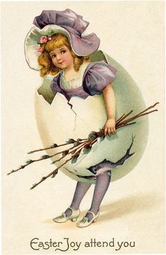 Victorian Egg Girl Image - Free from Graphics Fairy!