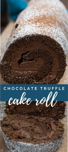 This Truffle Cake Roll is a death by. This Truffle Cake Roll is a death by chocolate cake with a ganache filling! Its the perfect cake roll recipe for chocolate lovers. Death By Chocolate Cake, Chocolate Truffle Cake, Chocolate Truffles, Homemade Chocolate, Chocolate Recipes, Chocolate Lovers, Chocolate Cake For Two Recipe, Chocolate Desert Recipes, Perfect Chocolate Cake