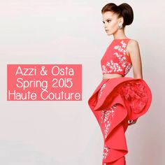 Azzi & Osta's Spring Summer 2015 Haute Couture collection is just like a fresh garden! Gorgeous dresses are only a click away. Arab Fashion, Spring Summer 2015, Couture Collection, Blossoms, Ballet Skirt, Fresh, Garden, Skirts, Dresses