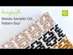 This video demonstrates pattern four of the mosaic sampler CAL. If you want to take part in this free CAL visit the CAL section of daisyknots website to down. Crochet Stitches Patterns, Crochet Designs, Knitting Patterns, Crochet Cluster Stitch, Crochet Earrings Pattern, Modern Crochet, Tapestry Crochet, Crochet Videos, Mosaic Patterns