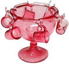 Pink Punch Bowl Set