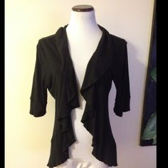 Express cardigan wrap lightweight Super cute and in good condition with no flaws to note. Has no buttons or any closures, just nice and flowy. Size large. Smoke free home! Express Sweaters Cardigans