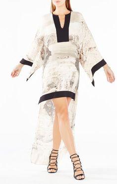Worina Dreamscape Print High-Low Dress