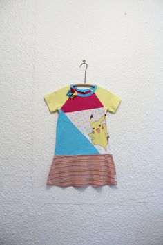 Pikachu Dress Recycled T Shirt Dress by cynthiamadeforkids on Etsy
