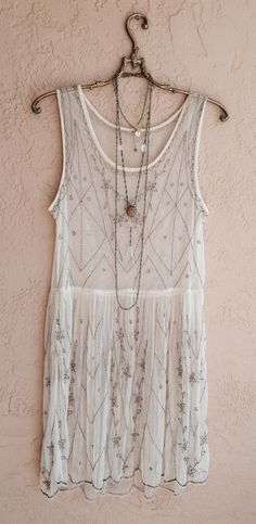Free People Starry night rose slip dress with Great Gatsby beads