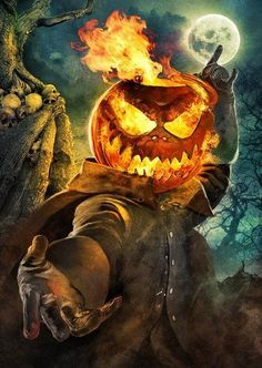 Image result for headless horseman with pumpkin head