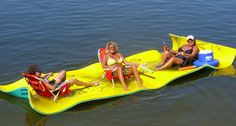 Aqua Lily Pad, Floating Water Mat, Lake Toys www.HitchitBa.com  www.aqualilypadok.weebly.com