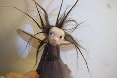 ooak poseable shadow PIXIE fairy ( #9 ) polymer clay art doll by DinkyDarlings elf pixie faery by DinkyDarlings on Etsy