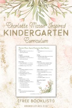 ) If you& looking for a Charlotte Mason Year or Kindergarten Curriculum for your student that has everything laid out for you, check this one out! p Charlotte Mason-Inspired Kindergarten C Kindergarten Homeschool Curriculum, Kindergarten Lesson Plans, Homeschool Kindergarten, Kindergarten Reading, Homeschooling Resources, Homeschooling Statistics, Preschool Prep, Curriculum Planning, Lesson Planning