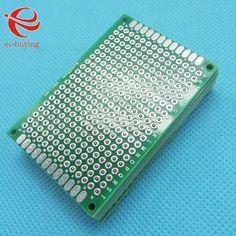 5 unids Estañado Doble Side Prototipo Copper PCB Junta Universal de Placa de Desarrollo Experimental 40x60mm 4x6 cm