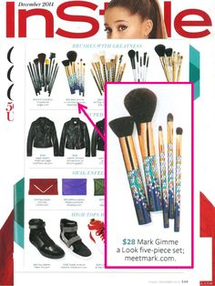 """mark. Gimme A Look 5-Piece Pro Brush Set is featured in InStyle's """"Holiday Gift Guide 2014""""! Shop this holiday exclusive set here: www.youravon.com/mhamilton39"""