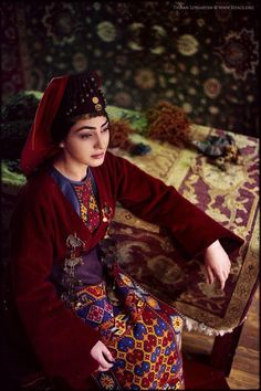 Armenian gorgeous girl With traditional Armenian Garment-Taraz