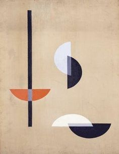 Moholy Nagy, László - Composition - Bauhaus - Oil on canvas - Abstract - Moholy-Nagy Foundation - Ann Arbor, MI, USA
