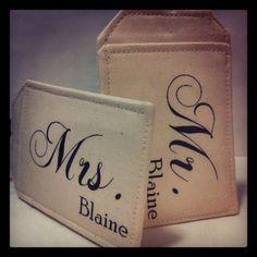 Custom Luggage Tags, Just Married, Bride Groom, Mr. Mrs. great going away gift