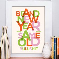 Brand New Year Print 13x19 now featured on Fab.