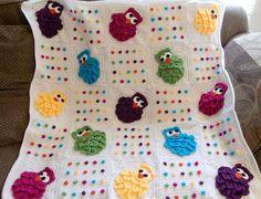 VERY CUTE. Ravelry: Rainbow Owls Baby Blanket pattern by Shana Galbraith
