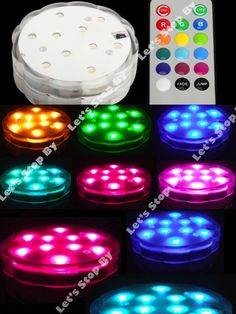 4 (10) LED RGB SUBMERSIBLE Wedding Light Eiffel Tower Vase Base Remote Control #letsstopby