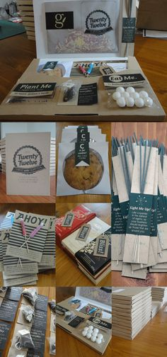 Client New Years Gift Boxes - 2012 Survival Kit. Absolutely brilliant! ~Great advice from @Paul Hassing