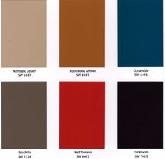 Sherwin Williams - Rooted: colors inspired and influenced by African, Native American, and Aboriginal tribal colors.