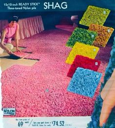 1971- Shag carpet