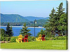 Chairs With A View Canvas Print by Bill Hayes