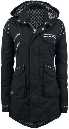 Studded Jacket by Rock Rebel ~ EMP