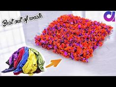 how to Reuse Your Old Clothes to make rugs, carpet, table mat | clothes recycling | Artkala 308 - YouTube