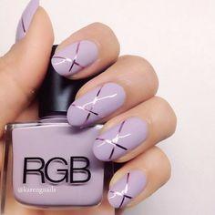 Cross-stitch  #nails using 'Lavender' by @RGB #nailart #karengnails