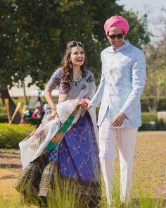 Boldest Colours Real Brides Wore On Their Mehendi! | WedMeGood Sabyasachi Lehenga Cost, Banarasi Lehenga, Lehenga Blouse, Anarkali Dress, Floral Lehenga, Bridal Lehenga, Wedding Lehanga, Blue Lehenga, Indian Lehenga